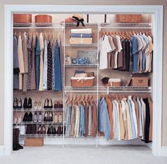 A closet with a fully customized closet